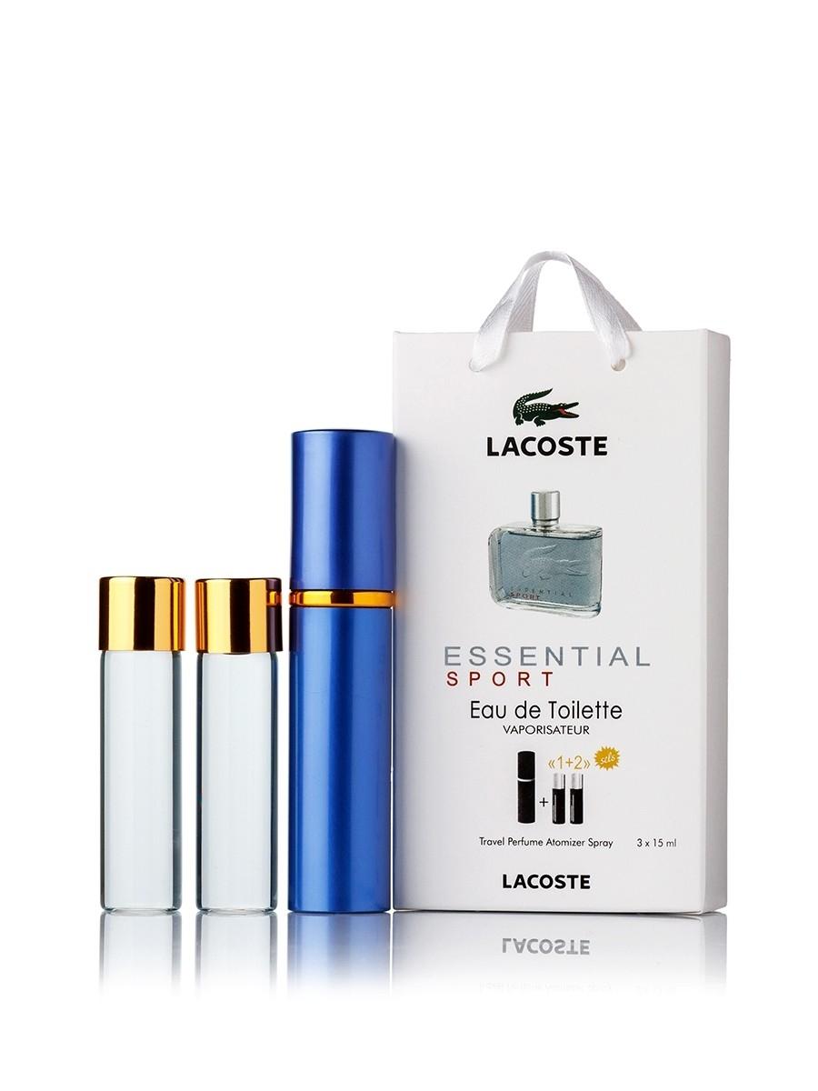 Lacoste Essential Sport edt 3x15ml в подарочной упаковке ... c1a216d112cbf