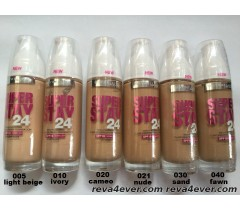 парфюмерия, косметика, духи MAYBELLINE Superstay 24H SPF19 Flawless Fresh Foundation