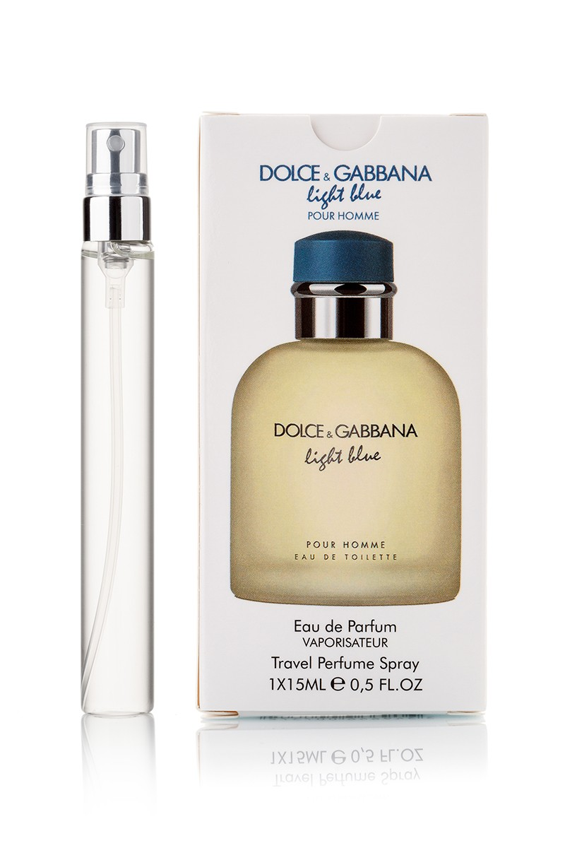 Dolce and Gabbana Light Blue pour Homme edp edp 1x15мл с феромонами travel perfume spray
