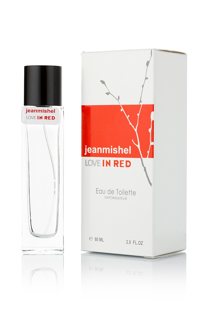 Jeanmishel Love In Red edt 60ml упаковка квадрат